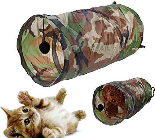 Broadroot Herramienta plegable para tienda de campaña para mascotas, túnel para gatos, pasajes, se limpia con un paño con timbre: Amazon.es: Productos para mascotas