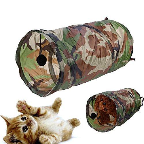 Broadroot Herramienta plegable para tienda de campaña para mascotas, túnel para gatos, pasajes, se limpia con un paño con timbre: Amazon.es: Productos para ...