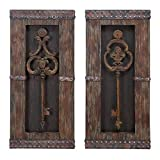 Cheap Antique Key Wood Wall Decor – Set of 2
