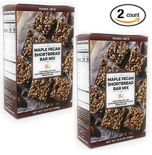 Trader Joe's – Maple Pecan Shortbread Bar Mix NET WT 15.5 OZ (439g) – 2-Pack