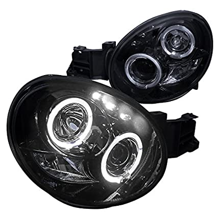 amazon com: spec-d tuning lhp-wrx02g-tm subaru impreza wrx dual halo led  glossy black projector headlights: automotive