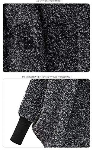 In Lunga Cappotto Alto Invernali Manica Giovane Tasche Cerniera Lana Grigio Elegante Giacca Irregular Anteriori Moda Di Baggy Pile Streetwear Women Swag Con Giubotto Collo Donna xzAYqPrwz