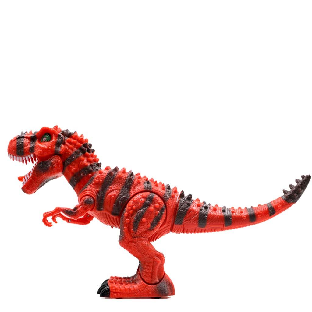 Kinder Dinosaurier Toy Set Tyrannosaurus Simulation Animal Plastic Electric Model (Farbe : ROT)