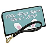 Wallet Clutch Hip Hop You Don't Stop Bunny Ears with Removable Wristlet Strap Neonblond