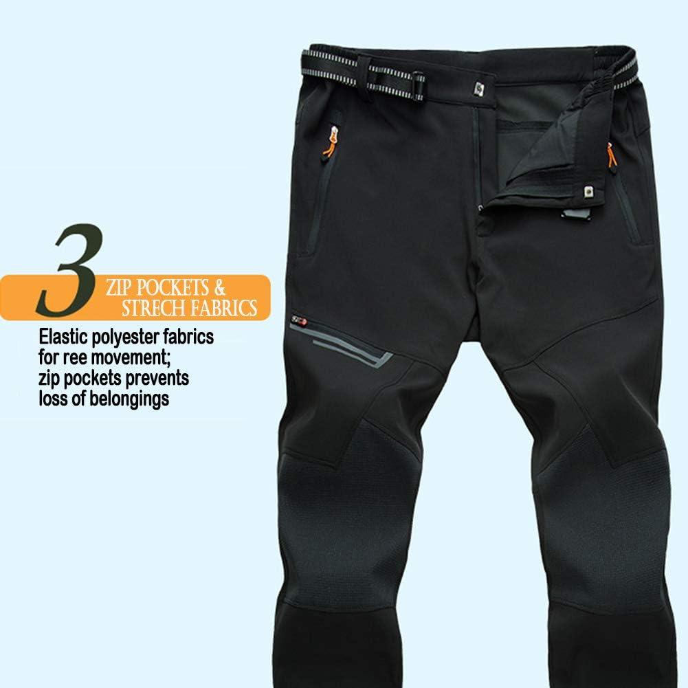 TACVASEN Herren Outdoor Hosen Atmungsaktiv Wasserbest/ändige Wanderhose mit Rei/ßverschlusstaschen