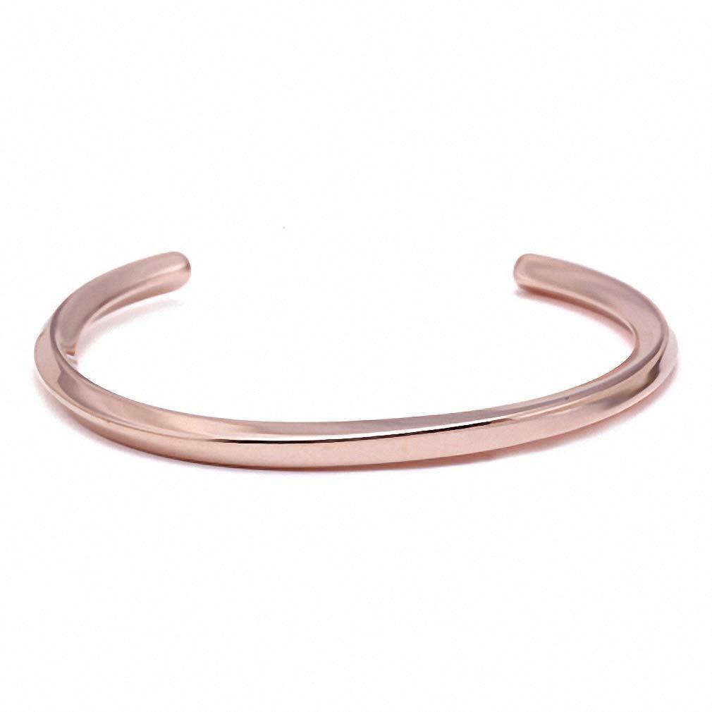 Hynsin Womens Bracelet Mens Bracelet Titanium Steel Cuff Bracelets Bangles 316L Stainless Steel Distortion Open Male Color Jewelry