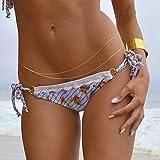 PIXNOR Sexy Bikini Beach Body ventre chaîne Tassel chaîne à la taille de la Double couche femmes (or)