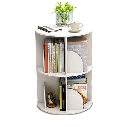 Amazon com: FLYSXP Rotating Bookshelf 360 Degree Bookcase Multi