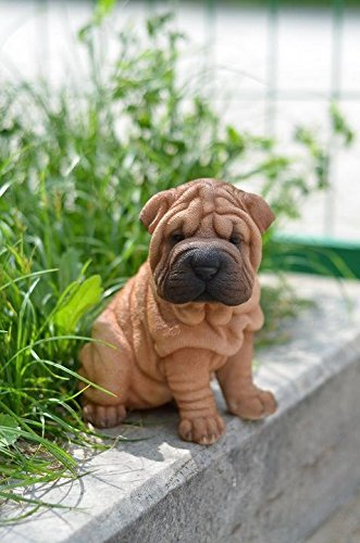 Pet Pals - Sitting Shar Pei Puppy Statue