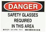 Brady 87780 Self Sticking Polyester Eye Protection Sign, 3 1/2