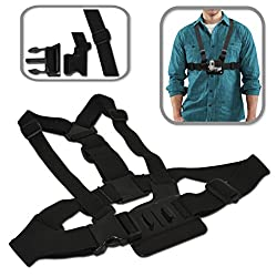 Xtech® Adjustable Chest Mount Harness For Gopro Hero4 Hero 4, Gopro Hero3 Hero 3, Gopro Hero3+, Gopro Hero2, Gopro Hd Motorsports Hero, Gopro Surf Hero, Gopro Hero Naked, Gopro Hero 960, Gopro Hero Hd 1080p, Gopro Hero2 Outdoor Edition & All Gopro Hero Cameras