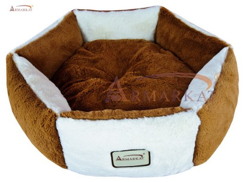 Armarkat Pet Bed, C02NZS/MB, Brown & Ivory