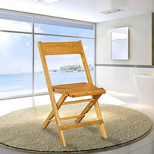 Folding wooden chair Oak Ergonomics Double cross design Expansion joints Natural texture Foldable Living room Student Backrest chair Dining chair Leisure chair Study stool Computer chair Wood color