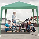 Tangkula 10'X10′ EZ POP UP Canopy Tent Gazebo Wedding Party Shelter Carry Bag (Green)