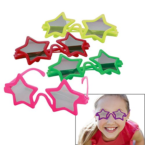 [Toy Cubby Party Favor Kids Star Shaped Sunglasses - 12 Pieces] (Rockstar Boys Costume)