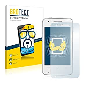 2x BROTECT HD-Clear Protector Pantalla Alcatel One Touch OT-4030X SPop Película Protectora – Transparente, Anti-Huellas