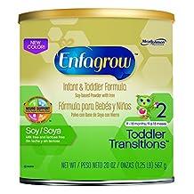 Enfagrow Toddler Transitions Soy Infant and Toddler Formula - 20 oz Powder Can (4 pk)