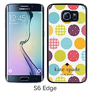 Fashionable And Unique Kate Spade Cover Case For Samsung Galaxy S6 Edge Black Phone Case 245