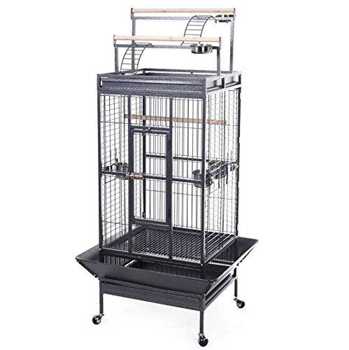 HPD Parrot Bird Finch Cage Cockatiel Parakeet Ladder Iron House Pet Supply