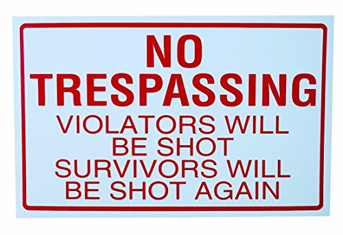 Ovo 1 Light (1-Pc Wonderful Popular No Trespassing Yard Sign Anti-Burglar 1-Side Printed Being Watched Size 11