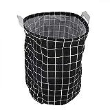 Simlug Canasta de lavandería Plegable para Ropa Sucia Canasta de lavandería de Gran Capacidad Canasta de Almacenamiento Bolsa de Ropa Organizador doméstico(Rejilla Negra)