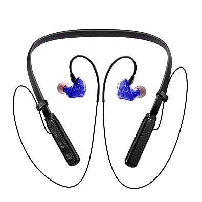 Hanging Neck Wireless Bluetooth Sport Earphones Halter Sweatproof Multi-Function Three-Button Earbud Running Headset