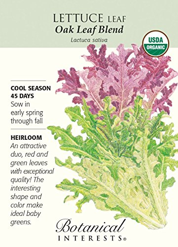 (Botanical Interests, Lettuce Leaf Oak Leaf Blend Organic, 1 Count)