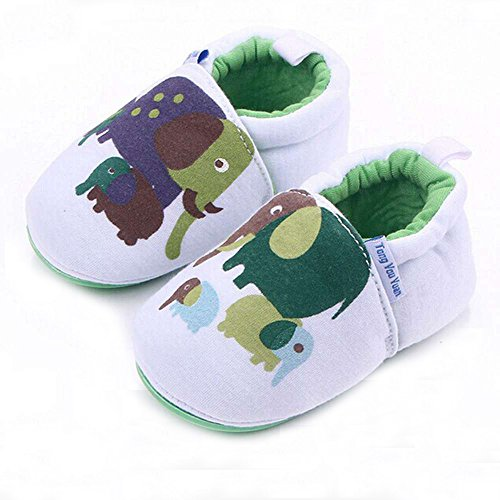 Lidiano Infant/Toddler Baby Non Slip Rubber Soft Sole Cartoon Walking Slip on Shoes for Home/Outdoors (5 M US Toddler, Elephant) - Image 3