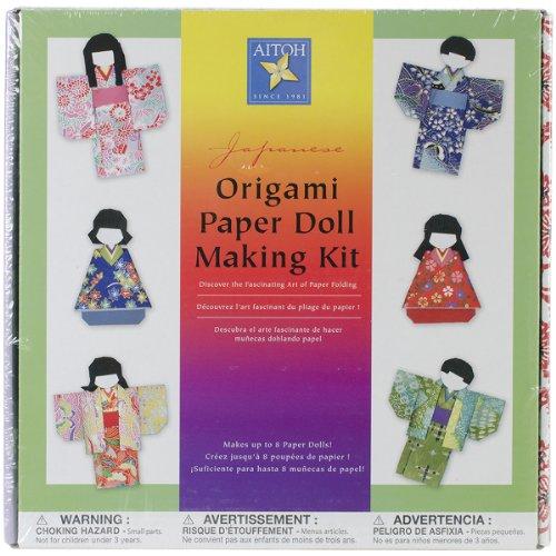Aitoh Kimono Doll Paper (Origami Kimono Dolls)