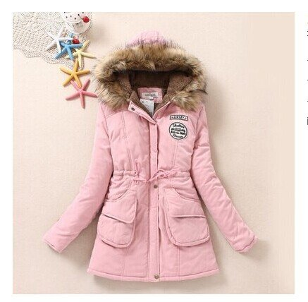 Jacket XXXL COAT FYM Coat Big Down Length Size Pocket Thickened Pink Color Solid Light DYF Medium 4twxwpTqS