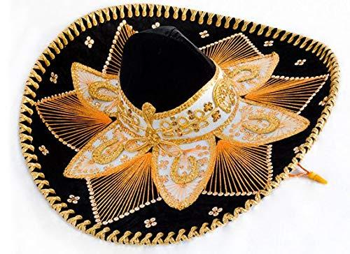 Black and Gold Mariachi Sombrero ()
