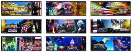 Patriotic Symbols Bulletin Board - Carson Dellosa Mark Twain Patriotic Topper Bulletin Board Set (1956)