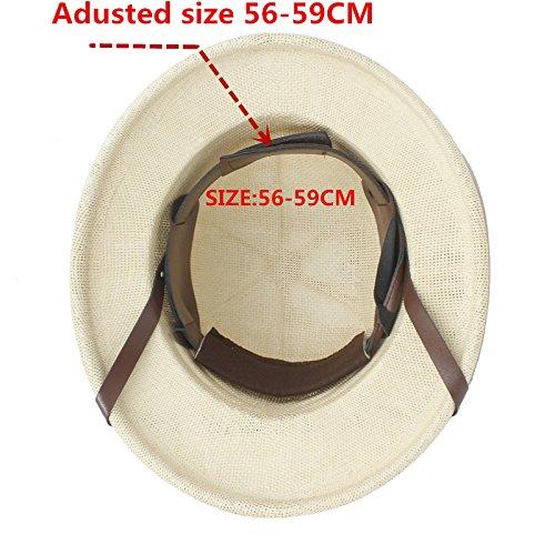 AJZGF Casco de paja de Toquilla de la novedad Sombreros de Sun de Pith para los hombres Sombrero del ejército de la guerra de Vietnam Sombreros del cubo del ...