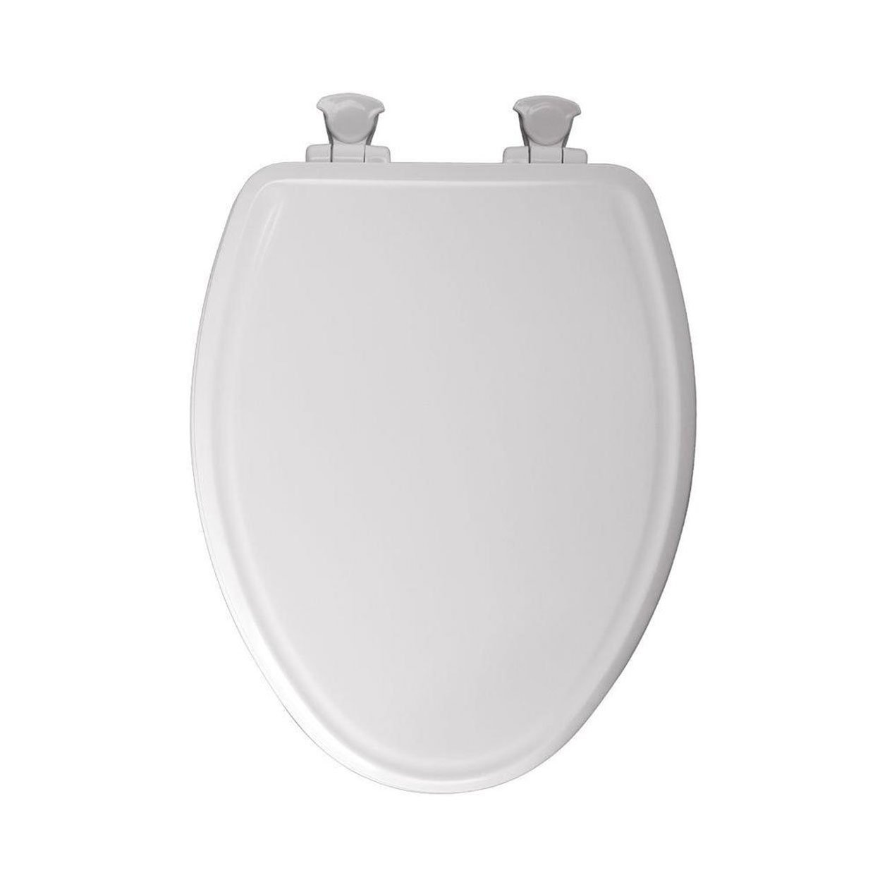 Church 685E3 000 Residential Elongated Molded Wood Toilet Seat with Whisper Close, White