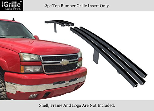 - Fits 2003-2006 Chevy Silverado 1500/2500 Air Dam Stainless T304 Black Grille Grill #N19-J20358C
