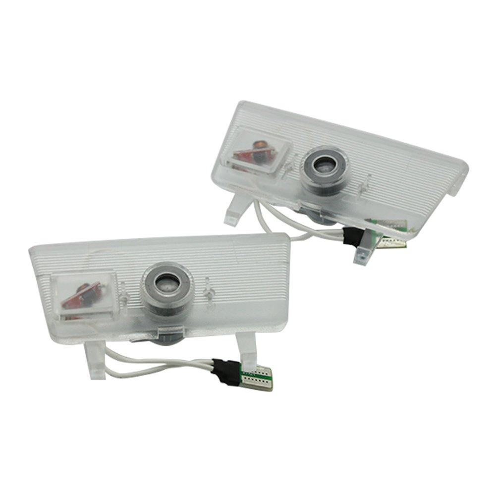 LIKECAR 2pcs luci per porti auto proiettore Car Styling LED Welcome Logo