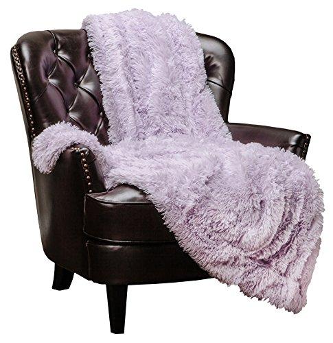 Chanasya Super Soft Shaggy Longfur Throw Blanket | Snuggly Fuzzy Faux Fur Lightweight Warm Elegant Cozy Plush Microfiber Blanket | for Couch Bed Chair Photo Props - 50