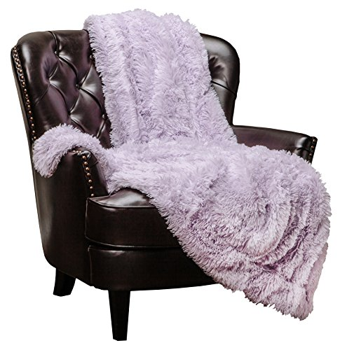 Chanasya Super Soft Shaggy Longfur Throw Blanket | Snuggly Fuzzy Faux Fur Lightweight Warm Elegant Cozy Plush Microfiber Blanket | for Couch Bed Chair Photo Props - 50