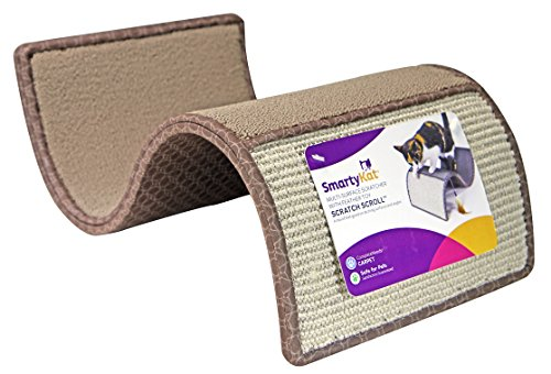 SmartyKat Scratch Scroll Cat Scratcher Carpet and Sisal Cat Furniture - Assorted colors