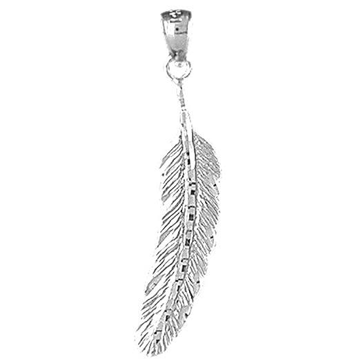 Amazon 14k white gold feather pendant 33 mm jewelry 14k white gold feather pendant 33 mm aloadofball Gallery