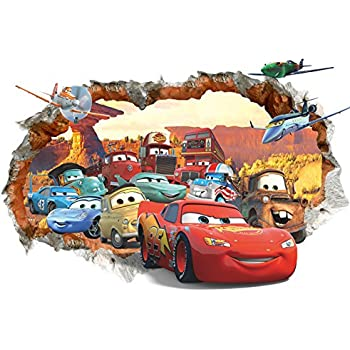 Amazoncom Disney Pixar Cars  Lightning McQueen  Mater Peel And - Somewhat about wall stickers