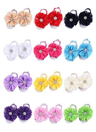 Lovinglove Toddler Baby Barefoot Girls Foot Flower Sandals