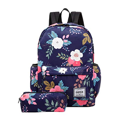 ODTEX Backpack Water Resistant School Bookbag for College Travel Laptop Backpack Fits for 15 inch Notebook and Tablet