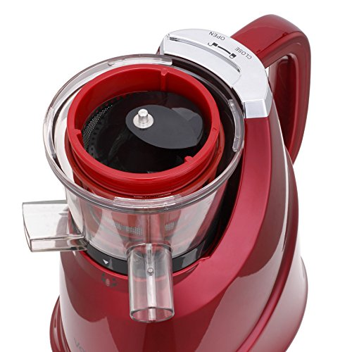 vonShef Professional Slow Fruit vegetable Masticating Juicer Machine with Quiet 200W Motor for ...
