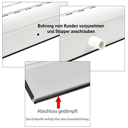 Smarotech® Rolladenbehang Höhe 140cm, Breite 70-119cm 70-119cm 70-119cm aus 8x37mm Alu-Lamelle (100cm Breite x 140cm Höhe, weiß) B07DYMJ2G9 Fensterlden c02e80