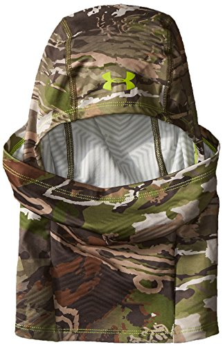Infrared Hood - Under Armour Unisex Scent Control ColdGear Infrared Hood, Ridge Reaper Camo Fo (943)/Velocity, One Size