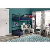 Better Homes and Gardens Kelsey Twin Metal Loft Bed, Sturdy metal frame with secure guardrails and ladder