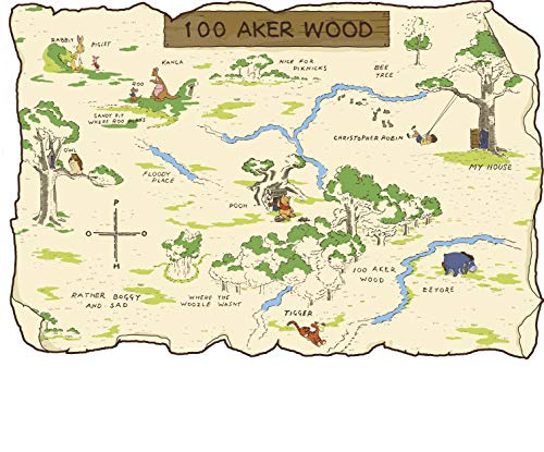 100 aker wood map - 3