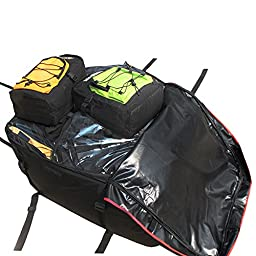 LOHAS Home 14 Cubic Feet Rooftop Cargo Bag, 228L Car Roof Carrier Bag, 1000D Rainproof Fabric Soft-Shell Carrier