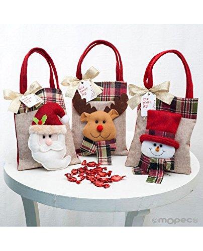 Bolsas Navidad yute y fieltro - Lote 3: Amazon.es: Hogar